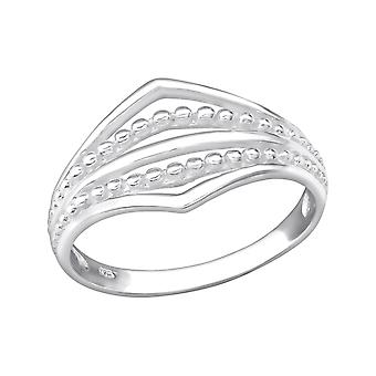 Patterned - 925 Sterling Silver Plain Rings - W35098x