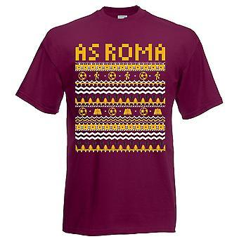 Como Roma Natal t-shirt (Borgonha)