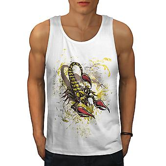 Scorpion Art Wild Men WhiteTank Top | Wellcoda