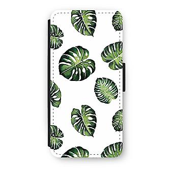iPhone 5/5 s/SE Flip Case - Blätter Tropical