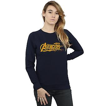 Marvel Frauen Avengers Infinity Krieg Orange Logo Sweatshirt