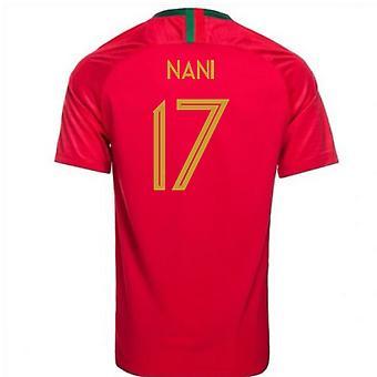 2018-2019 Portugal Home Nike Football Shirt (Nani 17)