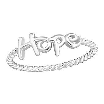 """""""Toivottavasti"""" - 925 sterlinghopea tavallinen renkaat - W37286x"""