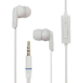 Mline root stereo headset earphone white, iPhone and Smartphone