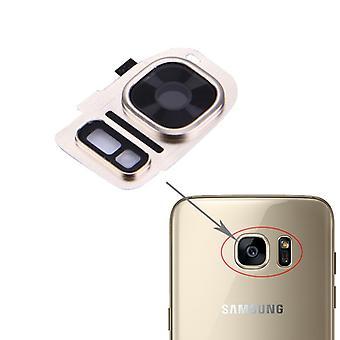 Para Samsung Galaxy S7 G930F cámara anillo de cristal cubierta de marco cubierta oro nuevo