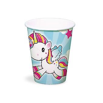 Unicórnio copos copos 250 ml 8 peças unicórnio unicórnio festa decoração do partido