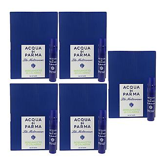 Acqua Di Parma 'Blu Mediterraneo Bergamotto Di Calabria' EDT 1.2ml ( Pack Of 5)