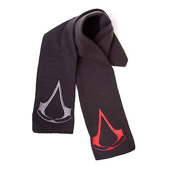 Assassin's Creed Unisex Red/Grey Brotherhood Crest Logos Scarf One Size Black (KS007881ASC)