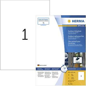 Herma 9501 Labels 210 x 297 mm PE film White 50 pc(s) Permanent All-purpose labels, Weatherproof labels