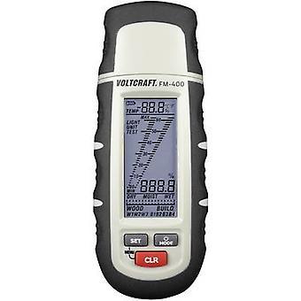 VOLTCRAFT FM-400 Moisture meter Building moisture reading range 0.1 up to 24 vol% Wood moisture reading range 1 up to 60 vol%