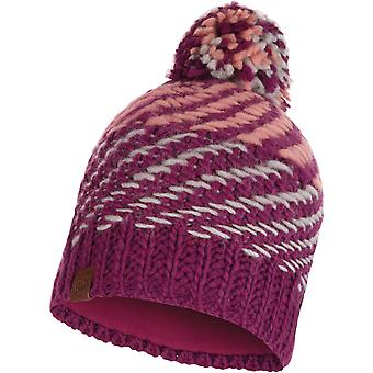 Buff Nella Knitted Bobble Hat in Purple Raspberry