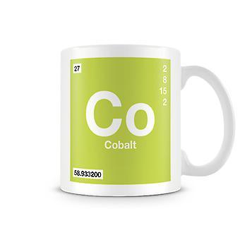 Научные печатные кружка, показывая элемент символ 027 Co - кобальт