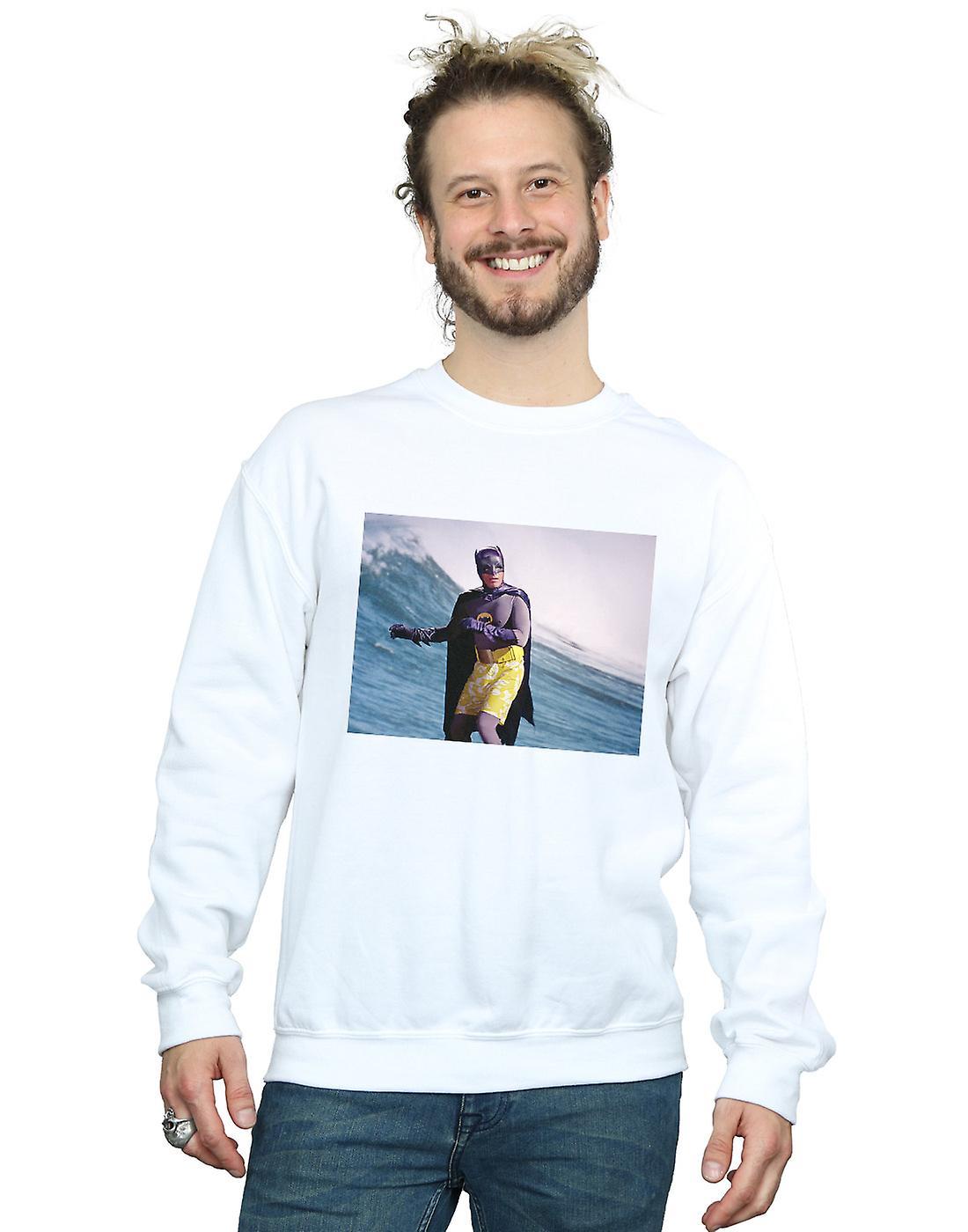 DC Comics Men's Batman TV Series Surfing Still Sweatshirt