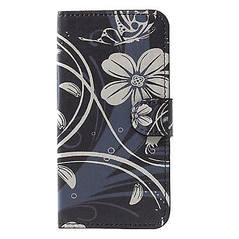 iPhone X Monedero Caso-Flores Blancas