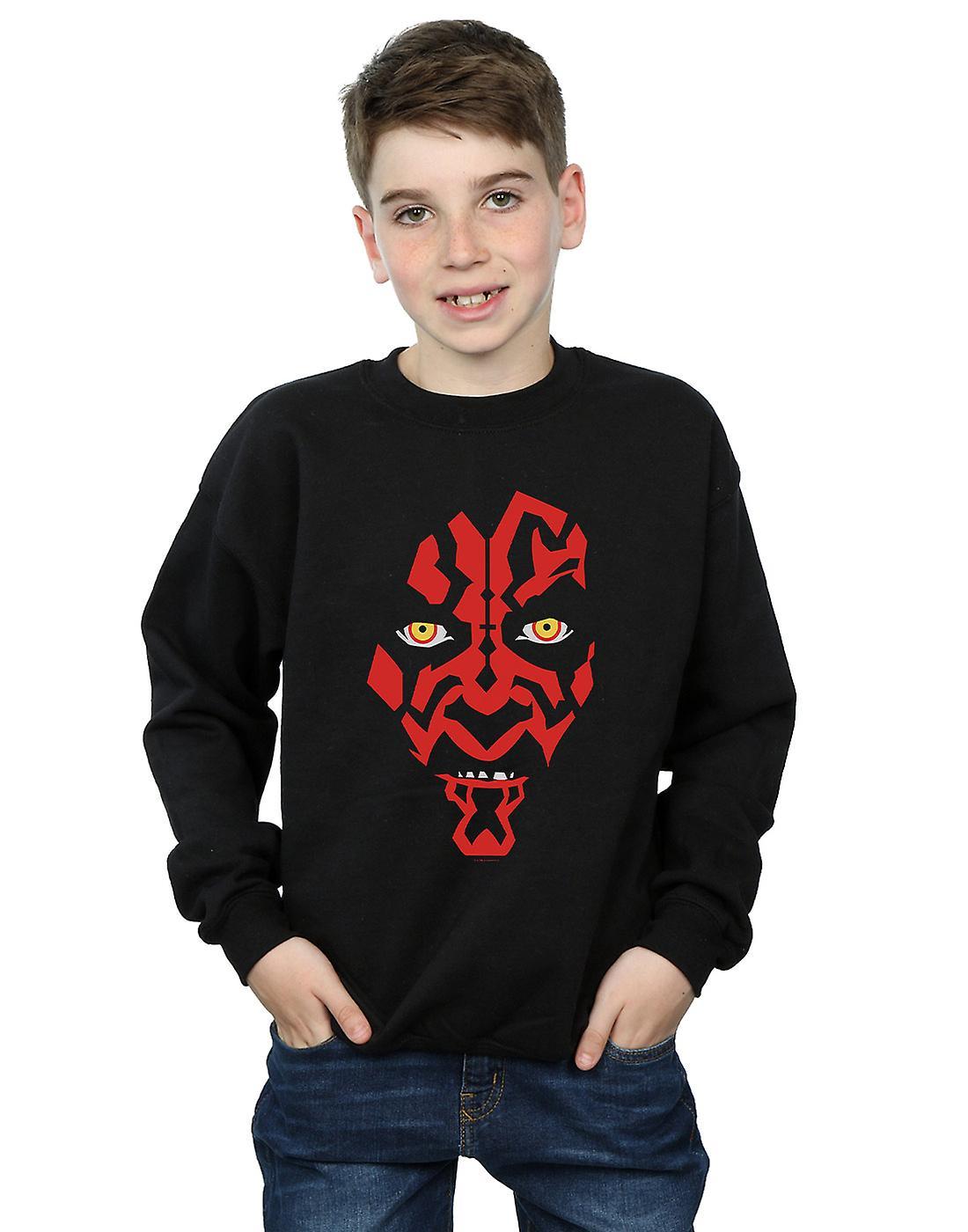 Star Wars Boys Darth Maul Face Sweatshirt