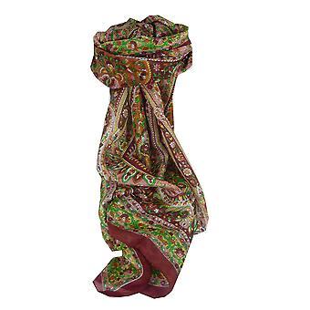 Mûrier rouge de Esha soie longue écharpe traditionnelle par Pashmina & soie