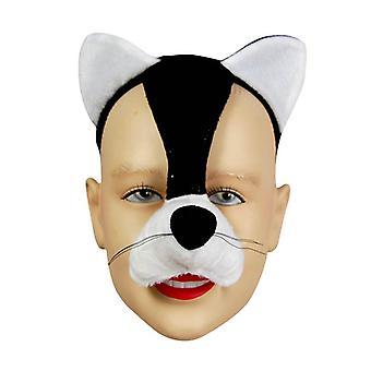 Kat masker op hoofdband & geluid.