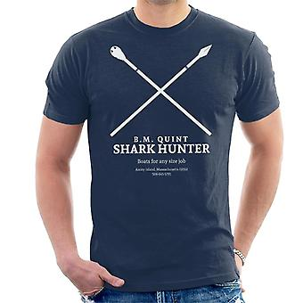 Jaws BM Quint Shark Hunter Business Card Men's T-Shirt