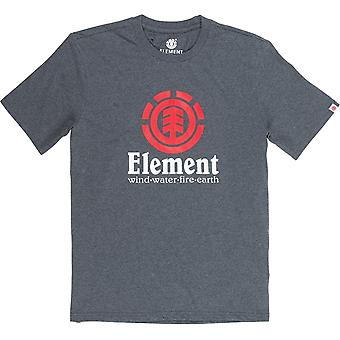 Element Vertical Short Sleeve T-Shirt in Charcoal Heathe