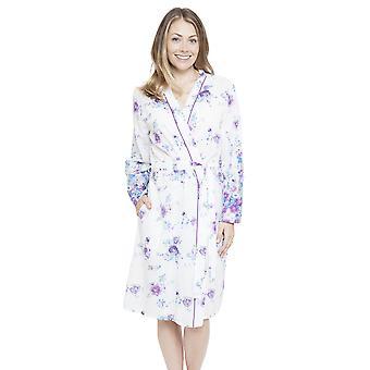 Κυβερνοπυτζάμες 4098 γυναίκες ' s Andrea λευκό floral εκτύπωση ρόμπα ρούχα για το μπάνιο ρόμπα κιμονό