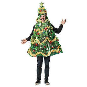 Adult Printed Christmas Tree Xmas Novelty Fancy Dress Costume