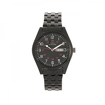 Elevon Gann Bracelet Watch w/Day/Date - Black