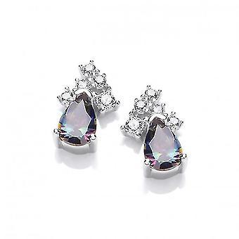 Cavendish French Silver, Alexandrite CZ Teardrop Earrings