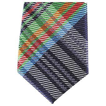 Knightsbridge halsdukar Tartan smal Polyester Tie - Navy/grön/röd