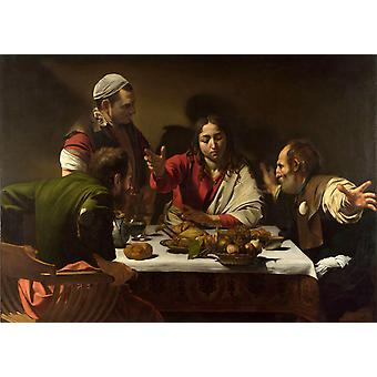 The supper på Emmaus, Caravaggio, 60x43cm