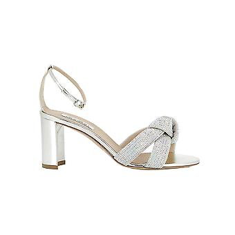 Ninalilou 201079ba42 Women's Silver Leather Sandals