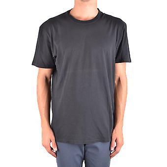 Paolo Pecora Ezbc059047 Men's Black Cotton T-shirt