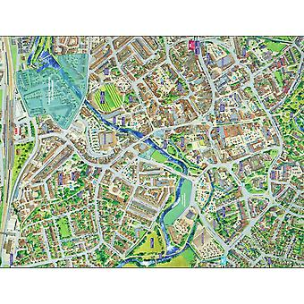 Bylandskap Street kart over Taunton 400 stykke puslespill 470 x 320 mm (hpy)
