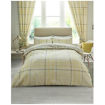 Hartley Check Reversible Polycotton Duvet Quilt Cover Bedding Set Pillow Case