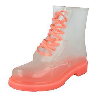 Ladies Spot su gelatina trasparente stivali F50087