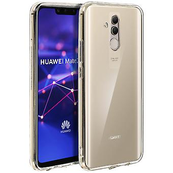 Tough rear clear case + shock absorbing silicone bumper for Huawei Mate 20 lite