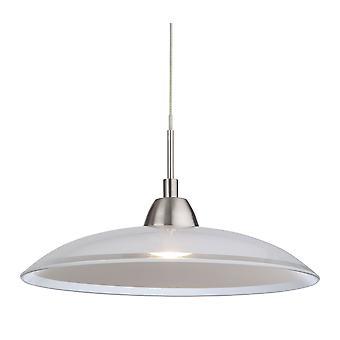 Firstlight-LED 1 vaalea katto riipus harjattu teräs, lasi-8376BS