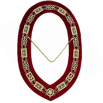 Grand lodge - chain collar - gold/silver on  + free case