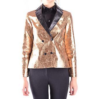 Ab Positive Ezbc244004 Damen's Gold Polyester Blazer