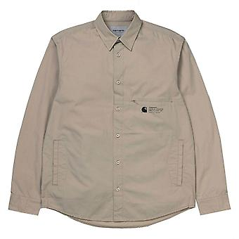Carhartt WIP lange mouw Coleman shirt muur