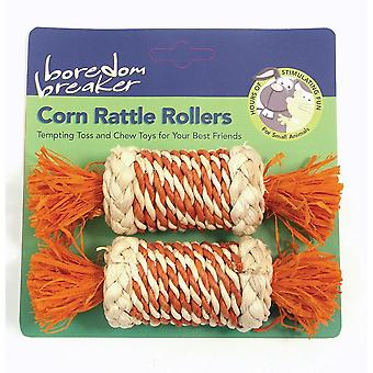 Boredom Breaker Corn Rattle Roller (Pack Of 2)