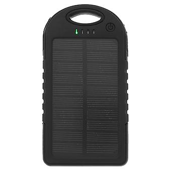 Solar 5000 mAh Backup Battery Waterproof Black