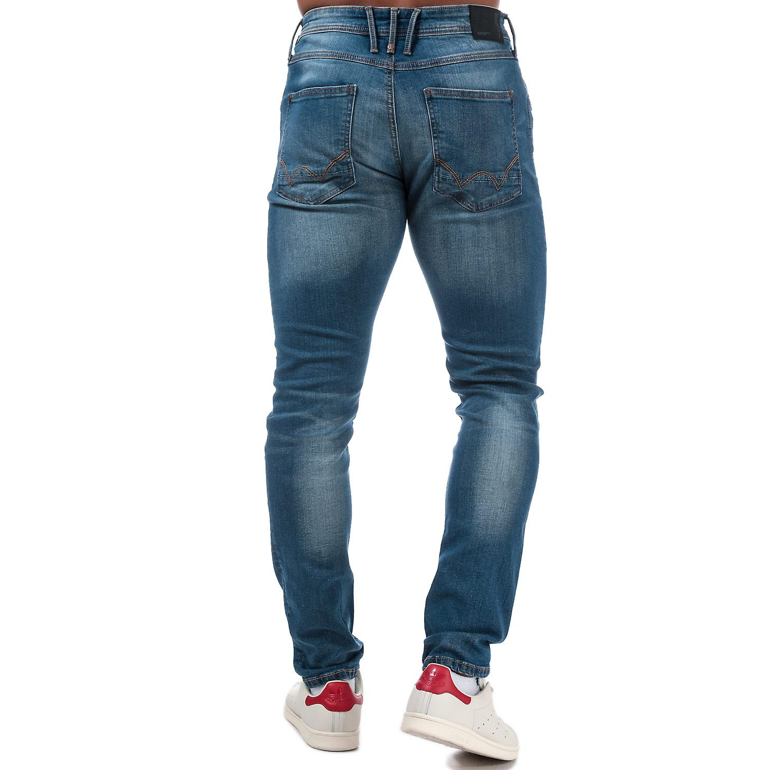 Five Pocket Design Mens Duck And Cover Maylead Slim Fit Jeans In Grey Zip Fly