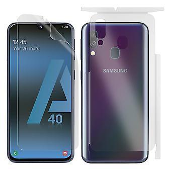 Galaxy A40 front & back Screen Protector flexibele Self-Healing transparante 3mK