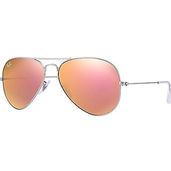 Flash de Ray-Ban Aviator lentes Unisex gafas de sol RB3025-019/Z2-58