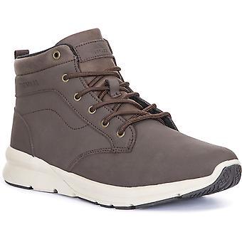 التعدي على الرجال كارلان ضوء منتصف قطع أحذية المشي الجلدية