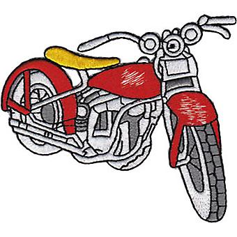 Patch - Automoblies - Vintage Red Bike Iron On Gifts New Licensed p-3852