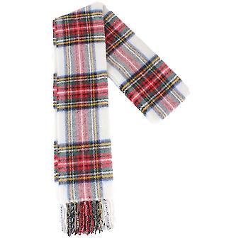 Locharron of Scotland Stewart Dress Modern Lambswool Scarf - White/Green/Red