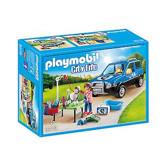Playmobil 9278 City Life Mobile Pet Groomer mit abnehmbarem Dach Playset