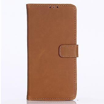 Samsung Galaxy Note 10 portafoglio retrò Case-Brown