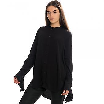 Calvin Klein Calvin Klein Draped Cuff Long Sleeve Womens Blouse